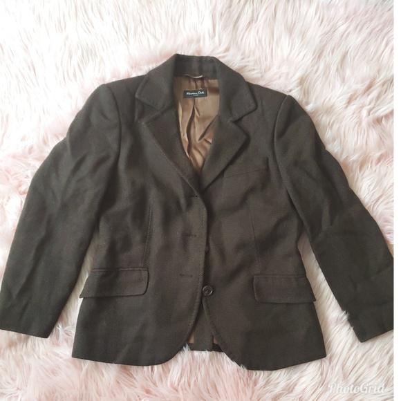 225436785c360 Massimo Dutti Brown Wool Blazer Size 6